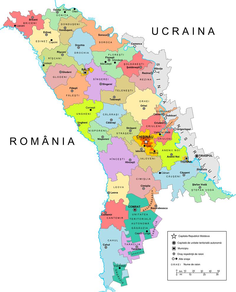 Moldavia Mapa
