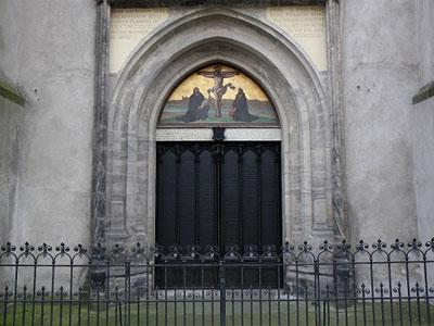 Las puertas de la Iglesia del Castillo de Lutherstadt-Wittenberg (Alemania)