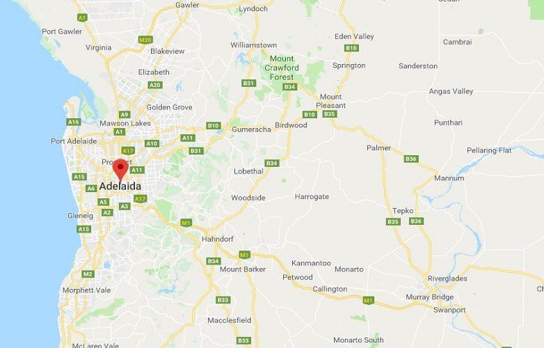 Adelaide Australia mapa 1