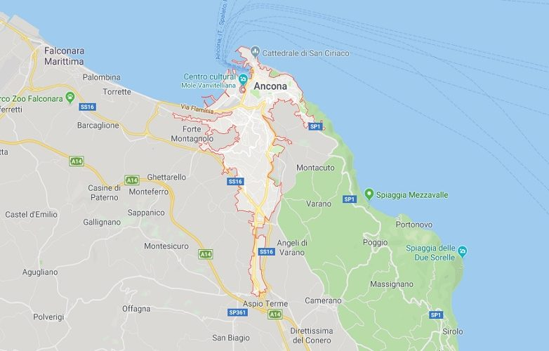 Ancona Italia mapa 1