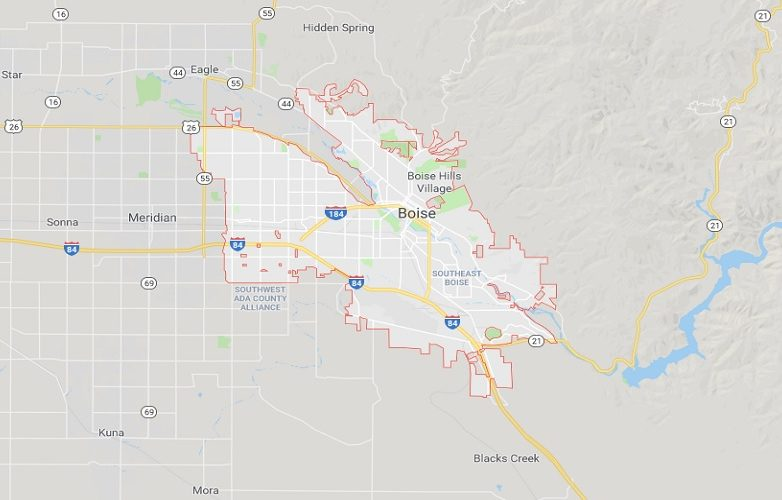 Boise Estados Unidos – Boise Idaho mapa 1