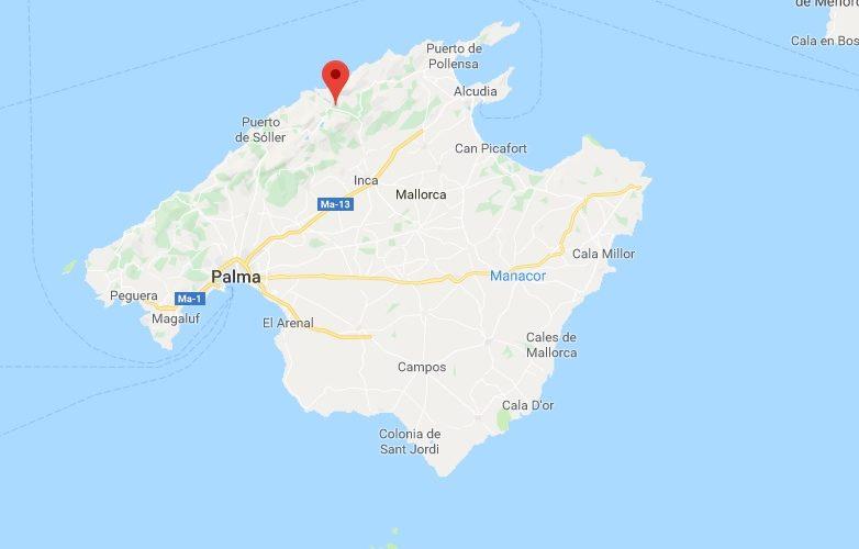 Escorca Mallorca mapa 2