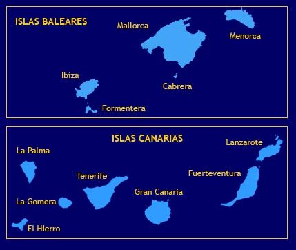 Islas Baleares y Canarias