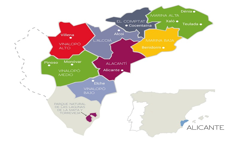 Mapa Provincia De Alicante.Que Ver Y Que Hacer En Alicante