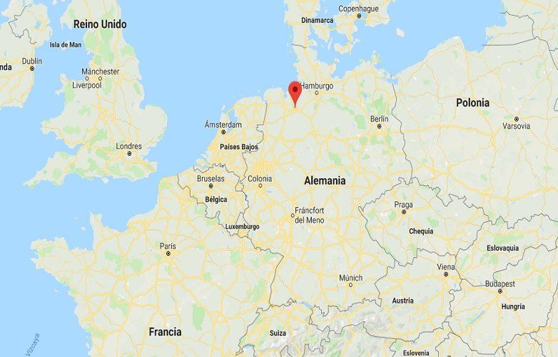 Mapa Bremen Alemania 2
