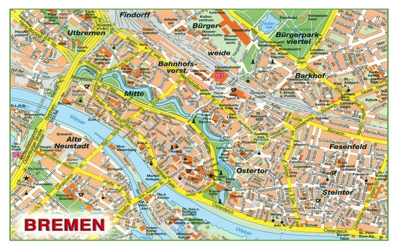Mapa Bremen Alemania 4